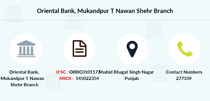 Oriental-bank-of-commerce Mukandpur-t-nawan-shehr branch