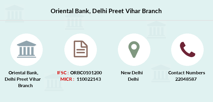 Oriental-bank-of-commerce Delhi-preet-vihar branch