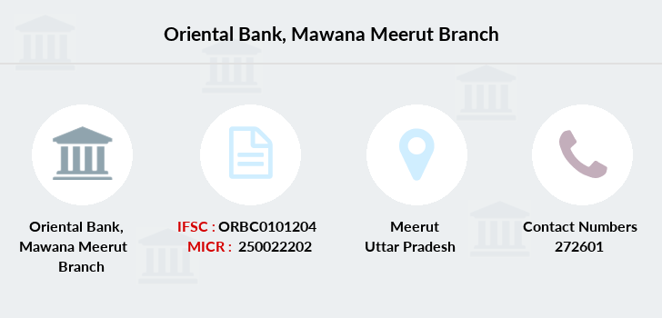 Oriental-bank-of-commerce Mawana-meerut branch