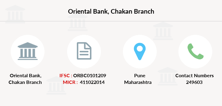 Oriental-bank-of-commerce Chakan branch