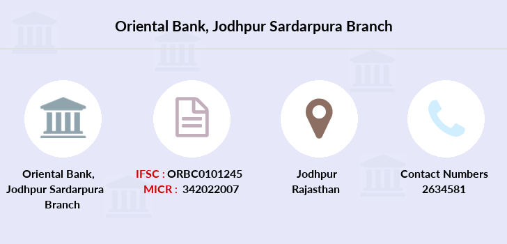 Oriental-bank-of-commerce Jodhpur-sardarpura branch