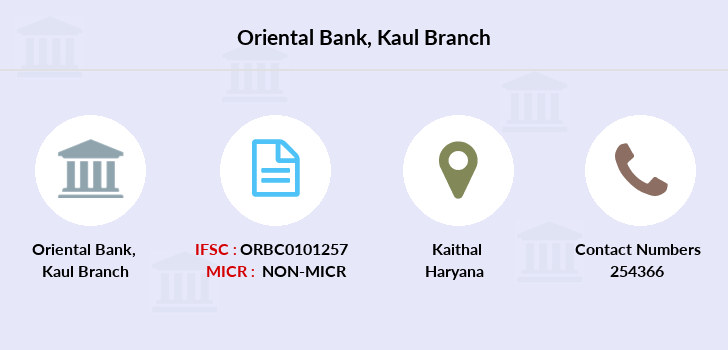 Oriental-bank-of-commerce Kaul branch