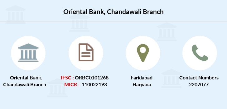 Oriental-bank-of-commerce Chandawali branch