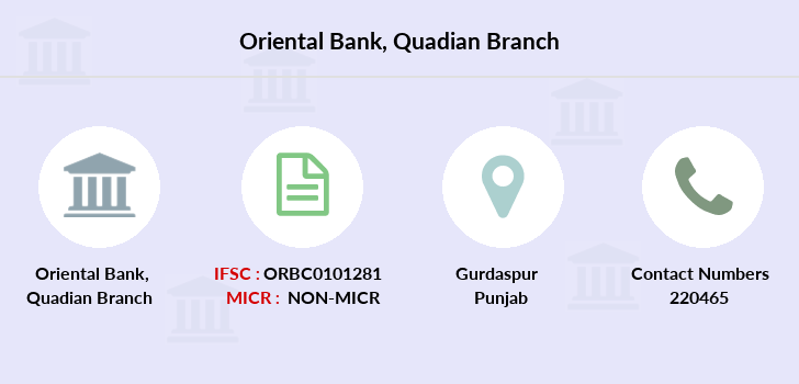 Oriental-bank-of-commerce Quadian branch