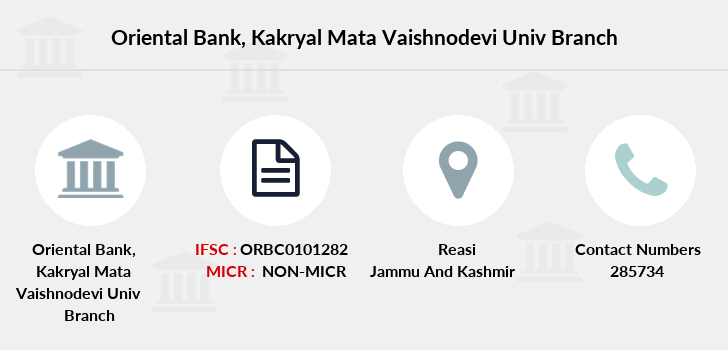 Oriental-bank-of-commerce Kakryal-mata-vaishnodevi-univ branch