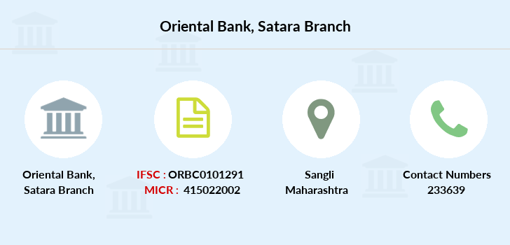 Oriental-bank-of-commerce Satara branch