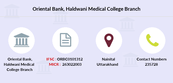 Oriental-bank-of-commerce Haldwani-medical-college branch