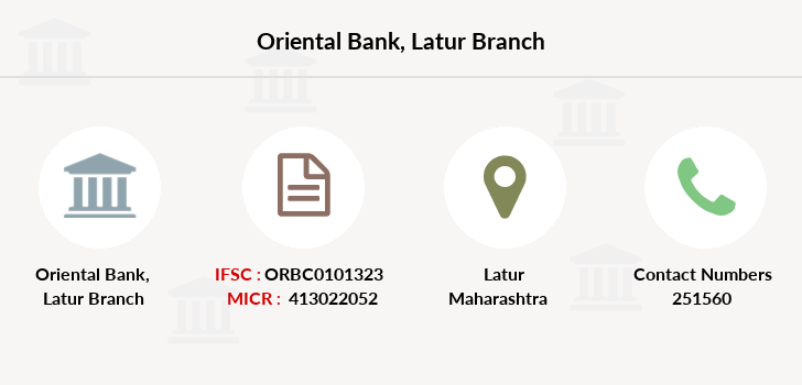 Oriental-bank-of-commerce Latur branch