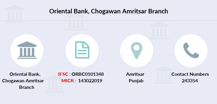 Oriental-bank-of-commerce Chogawan-amritsar branch