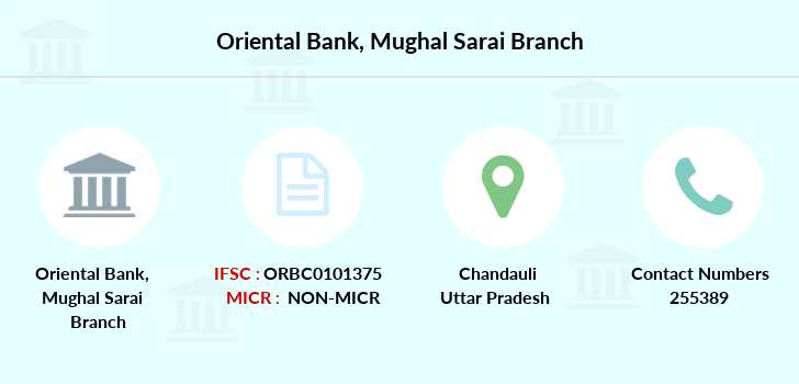 Oriental-bank-of-commerce Mughal-sarai branch