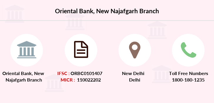 Oriental-bank-of-commerce New-najafgarh branch