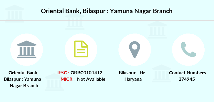 Oriental-bank-of-commerce Bilaspur-yamuna-nagar branch