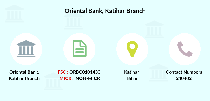 Oriental-bank-of-commerce Katihar branch