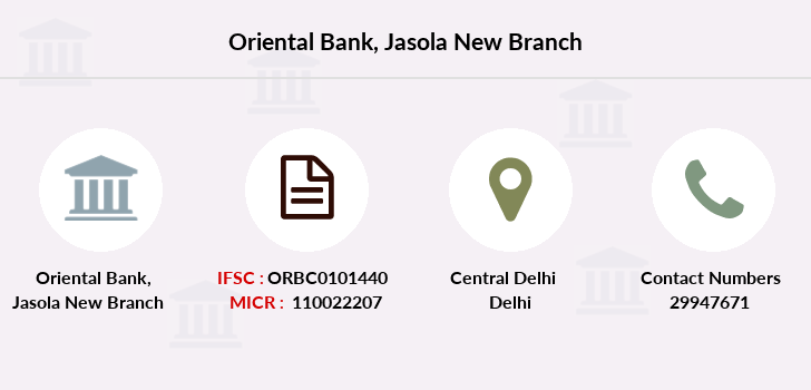 Oriental-bank-of-commerce Jasola-new branch