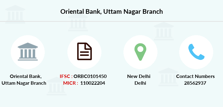 Oriental-bank-of-commerce Uttam-nagar branch