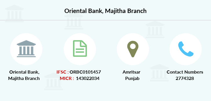 Oriental-bank-of-commerce Majitha branch