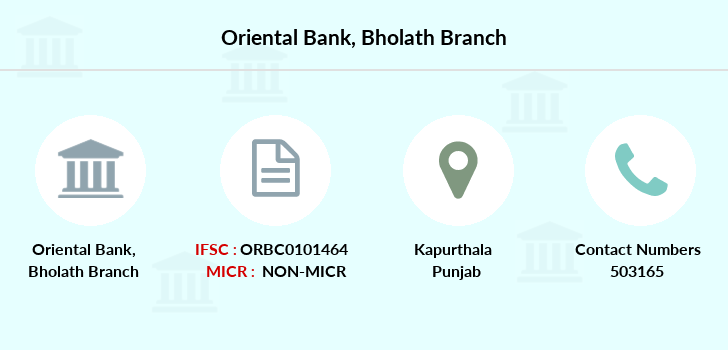 Oriental-bank-of-commerce Bholath branch
