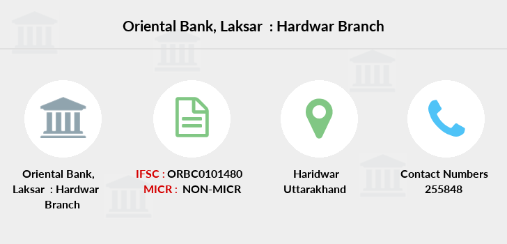 Oriental-bank-of-commerce Laksar-hardwar branch