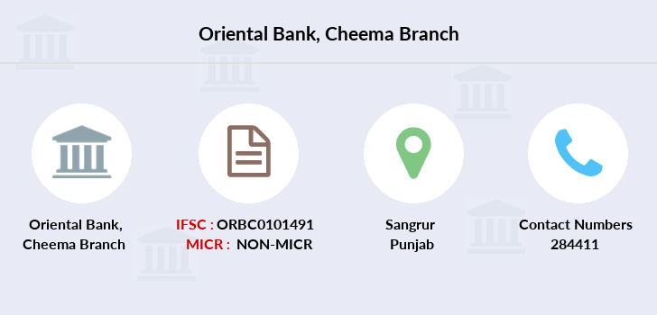 Oriental-bank-of-commerce Cheema branch