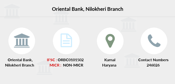 Oriental-bank-of-commerce Nilokheri branch