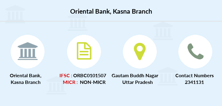Oriental-bank-of-commerce Kasna branch