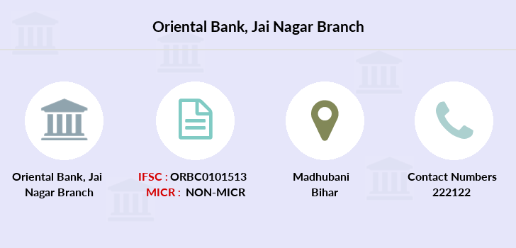 Oriental-bank-of-commerce Jai-nagar branch