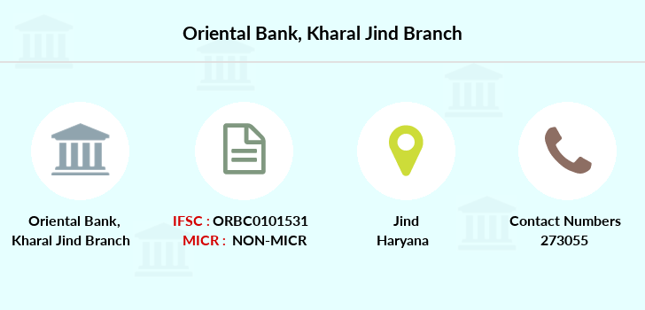 Oriental-bank-of-commerce Kharal-jind branch