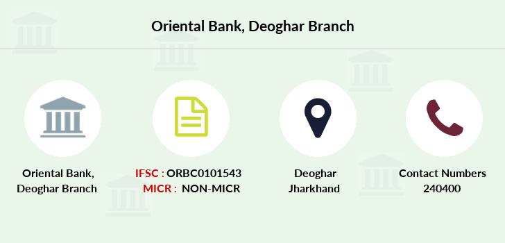 Oriental-bank-of-commerce Deoghar branch