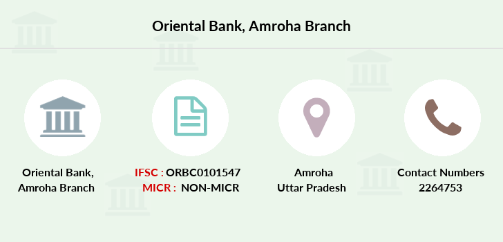 Oriental-bank-of-commerce Amroha branch