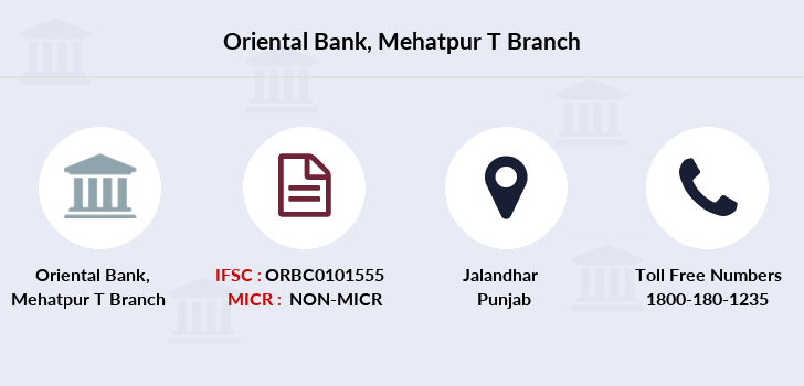 Oriental-bank-of-commerce Mehatpur-t branch