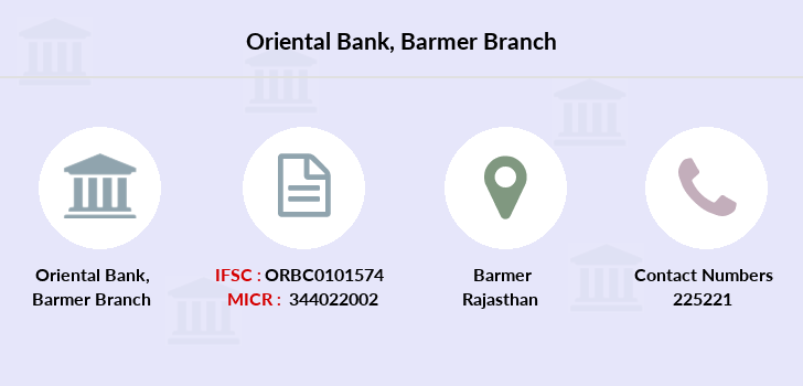 Oriental-bank-of-commerce Barmer branch