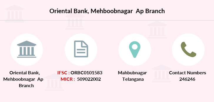 Oriental-bank-of-commerce Mehboobnagar-ap branch