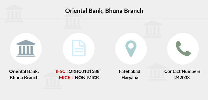 Oriental-bank-of-commerce Bhuna branch