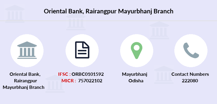 Oriental-bank-of-commerce Rairangpur-mayurbhanj branch