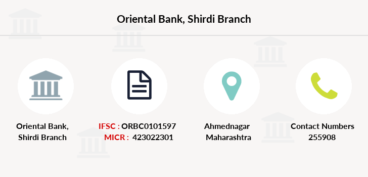 Oriental-bank-of-commerce Shirdi branch