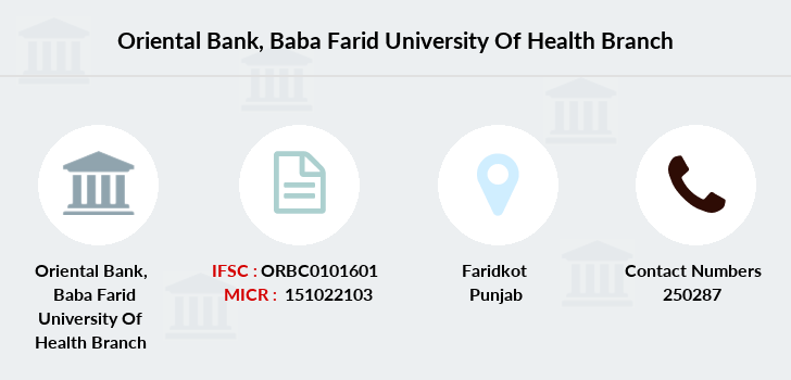 Oriental-bank-of-commerce Baba-farid-university-of-health branch