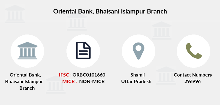 Oriental-bank-of-commerce Bhaisani-islampur branch