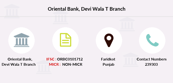 Oriental-bank-of-commerce Devi-wala-faridkot branch