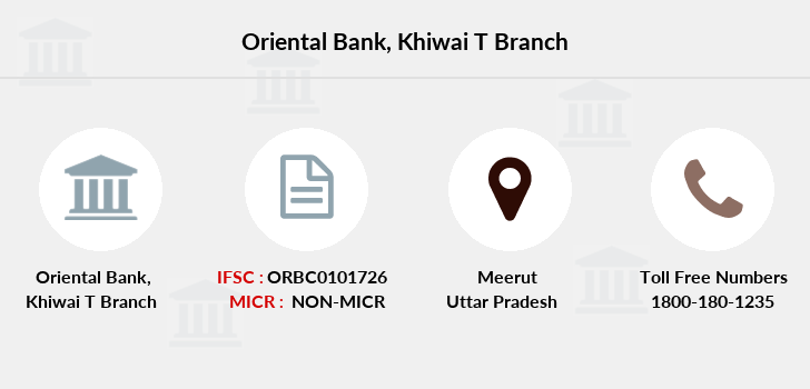 Oriental-bank-of-commerce Khiwai-district-meerut branch
