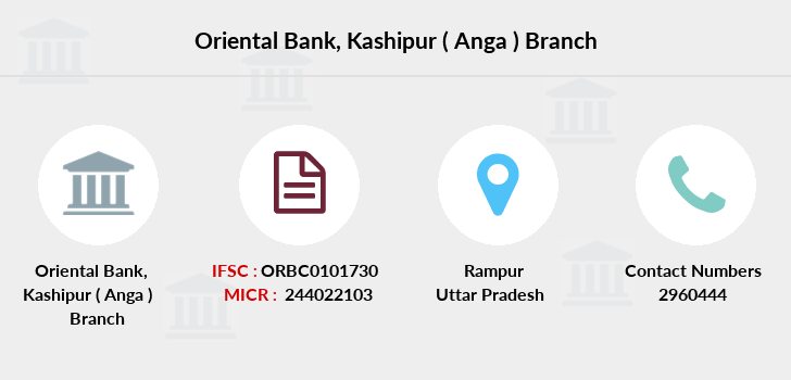 Oriental-bank-of-commerce Kashipur-anga branch