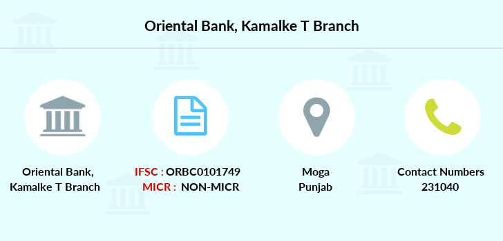 Oriental-bank-of-commerce Kamalke-district-moga branch