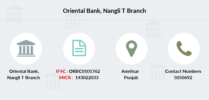 Oriental-bank-of-commerce Nangli-t branch