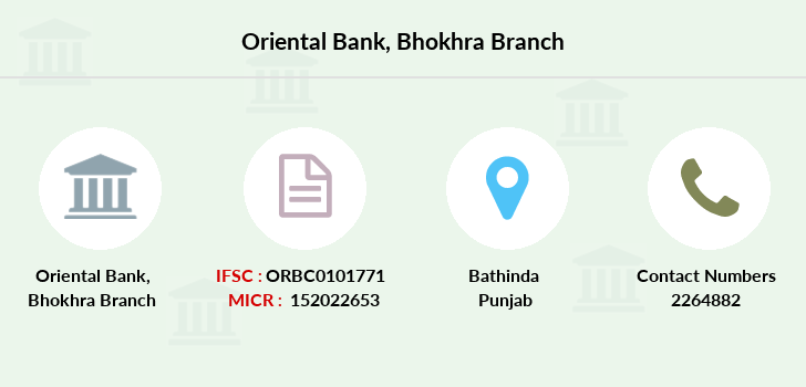 Oriental-bank-of-commerce Bhokhra branch