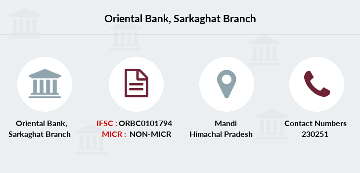 Oriental-bank-of-commerce Sarkaghat branch