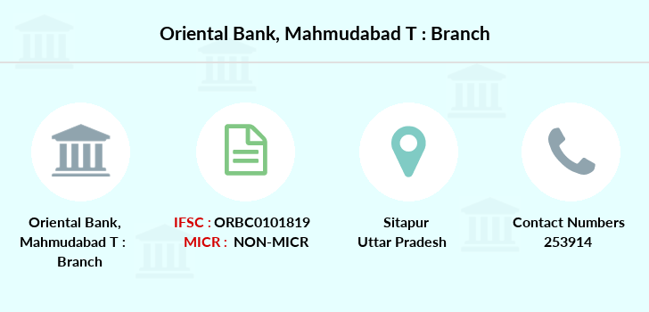 Oriental-bank-of-commerce Mahmudabad-sitapur branch