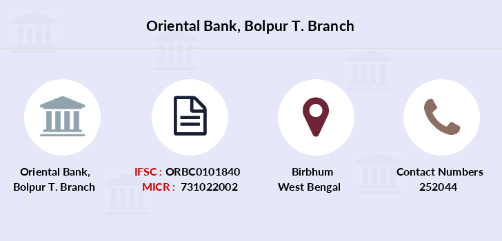 Oriental-bank-of-commerce Bolpur-t branch
