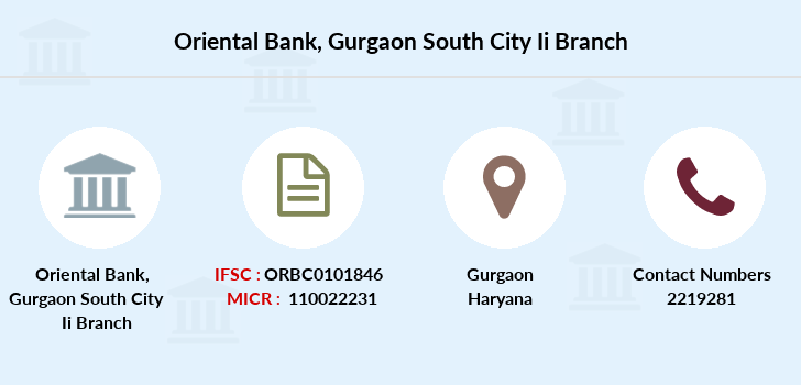 Oriental-bank-of-commerce Gurgaon-south-city-ii branch