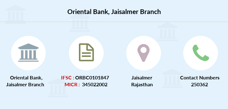 Oriental-bank-of-commerce Jaisalmer branch