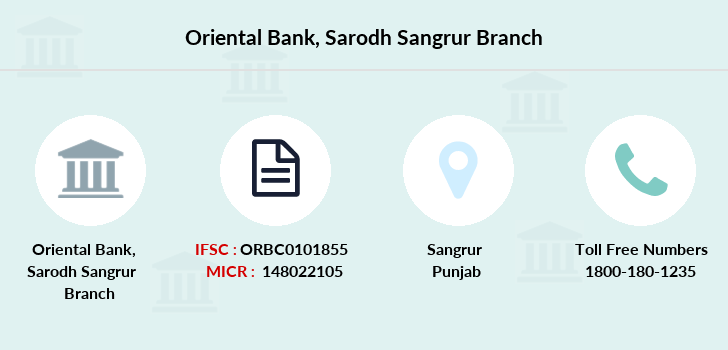 Oriental-bank-of-commerce Sarodh-sangrur branch