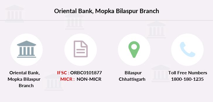 Oriental-bank-of-commerce Mopka-bilaspur branch